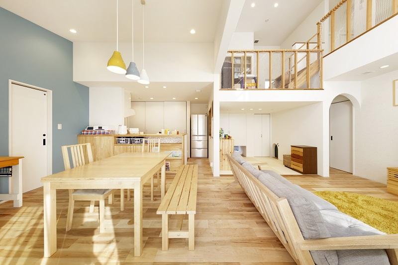 スキップフロア×北欧デザインの家
